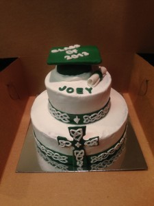 Celtic Cross and Knots Class of 2013 Graduation Cake for a Boy
