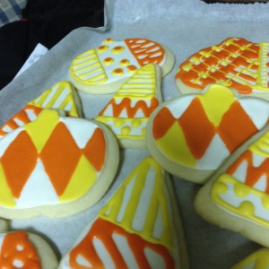 Candy Corn and Pumpkin Autumn Cookies