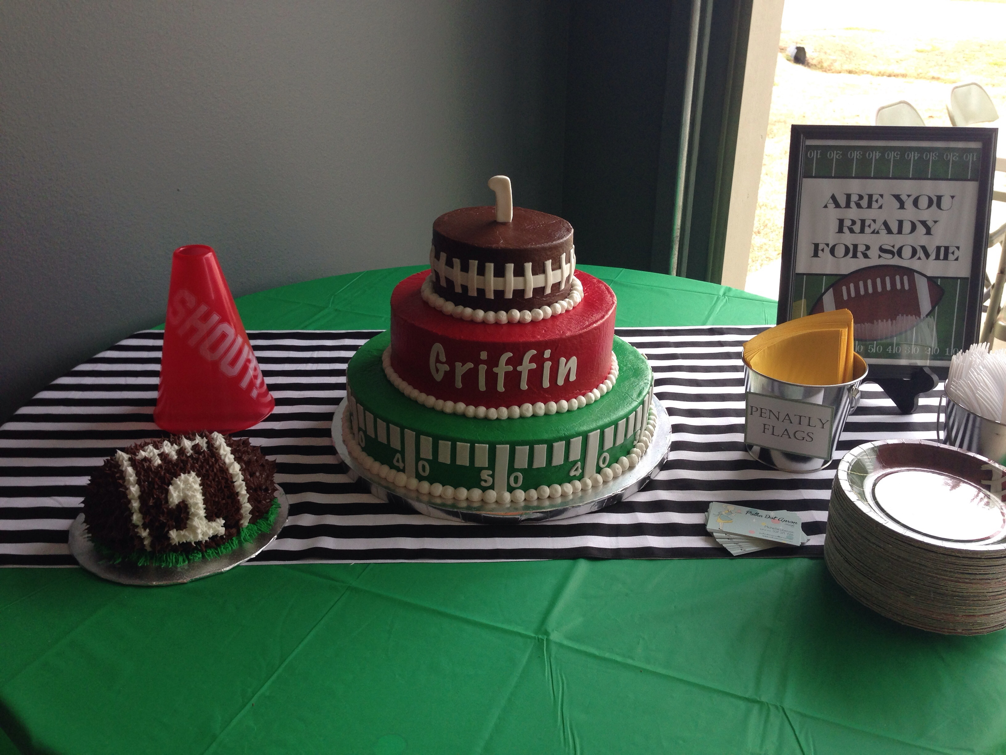 Football Themes Birthday Cake