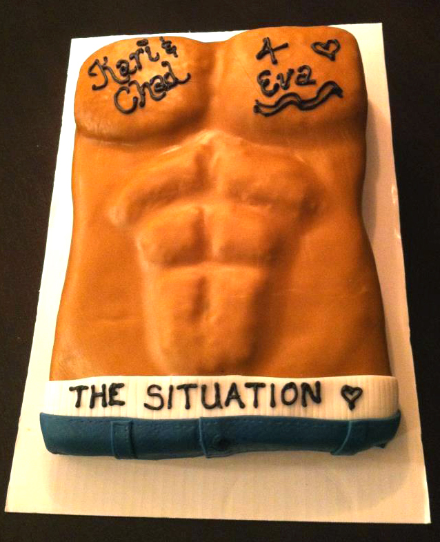 Jersey Shore Themed Cake.  The Situation's Abs.