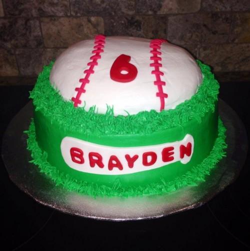 baseball cake